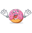 crazy donut mascot cartoon style vector image vector image