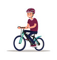 cyclist man dressed in sports clothes and helmet vector image