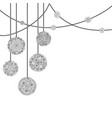decorative christmas card with tree ball vector image vector image