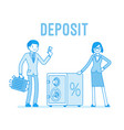 deposit man and woman vector image