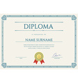 Diploma or Certificate Premium Design Template in vector image vector image