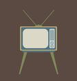 Flat Design Vintage TV vector image vector image