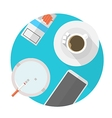 Flat icon for break table vector image