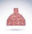 Flower-patterned decorative bottle alcohol theme vector image vector image