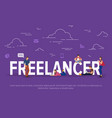 freelancer concept business vector image