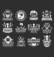 gentleman logo barber shop items scissors blade vector image