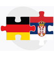 Germany and Serbia Flags vector image