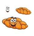 Gourmet plaited crusty loaf of bread vector image vector image