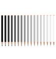 grey pencils vector image vector image