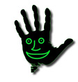 hand face vector image vector image