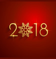 happy new year 2018 red golden background design vector image vector image