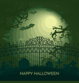 haunted happy halloween banner cemetery vector image vector image
