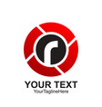 initial letter r logo template colored black red vector image
