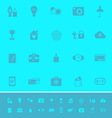 Insurance sign color icons on light blue vector image vector image