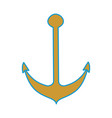 isolated anchor vector image vector image