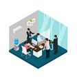 isometric business innovations concept vector image vector image