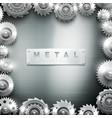 Metal Cogwheel Frame Design Background vector image
