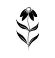 minimalist tattoo flower silhouette art blossom vector image vector image
