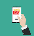 mobile payment for goods services shopping using vector image vector image