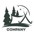 modern camping logo vector image vector image