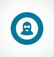 offender bold blue border circle icon vector image vector image