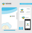 online banking business logo file cover visiting vector image vector image