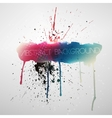 Paint splat grungy background vector image vector image