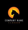 panther sun logo vector image