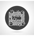 Photo frame black round icon vector image vector image