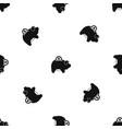 pig money box pattern seamless black vector image vector image