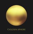 realistic gold metal sphere golden ball vector image vector image
