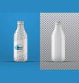 realistic mockup white plastic bottle vector image vector image