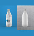 realistic mockup white plastic bottle with vector image