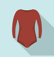 rhythmic gymnastics clothes icon flat style vector image