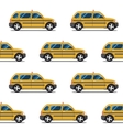 seamless pattern of yellow taxis vector image