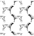 seamless pattern with hand drawn german vector image