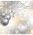 silver christmas background 2111 vector image vector image