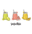 smoothies with fruit vector image vector image