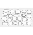 speech bubbles cartoon vector image vector image