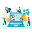 successful startup profit optimization business vector image vector image