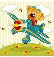 teddy bear pilot vector image
