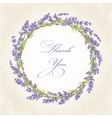 Thank you card with lavender vector image