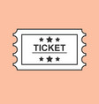ticket line art outline ticket icon vector image