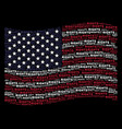 waving usa flag stylization of rights text vector image
