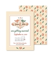 wedding vintage invitation in retro design with vector image vector image