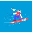 Man Snowboarding Winter vector image