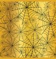 gold black spiderweb halloween seamless vector image