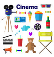 a set of bright for the film vector image vector image