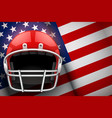 american football helmet and us flag vector image
