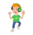 bain headphones listening music icon vector image